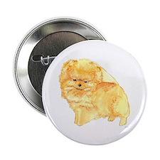 """Pomeranian Puppy Orange 2.25"""" Button"""