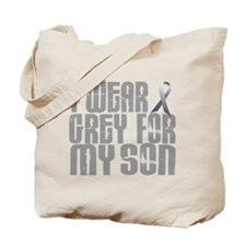 I Wear Grey For My Son 16 Tote Bag