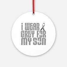 I Wear Grey For My Son 16 Ornament (Round)