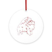 Pom Outline Red Ornament (Round)