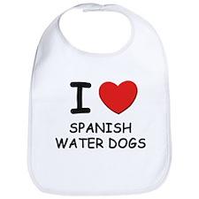 I love SPANISH WATER DOGS Bib