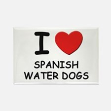 I love SPANISH WATER DOGS Rectangle Magnet (10 pac