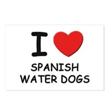 I love SPANISH WATER DOGS Postcards (Package of 8)