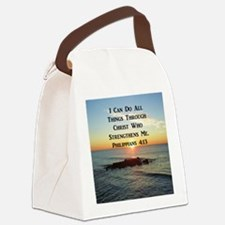 PHIL 4:13 VERSE Canvas Lunch Bag