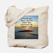 PHIL 4:13 VERSE Tote Bag