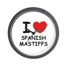 I love SPANISH MASTIFFS Wall Clock