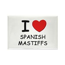 I love SPANISH MASTIFFS Rectangle Magnet