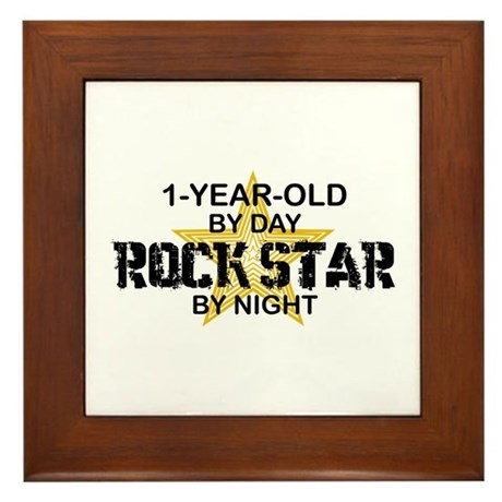 1 Year Old Rock Star by Night Framed Tile