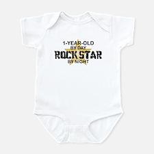 1 Year Old Rock Star by Night Onesie