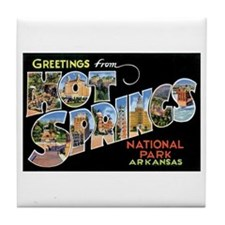 Hot Springs Arkansas Tile Coaster