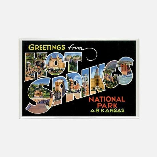 Hot Springs Arkansas Rectangle Magnet
