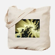 """Struck By Lightning"" Fractal Tote Bag"