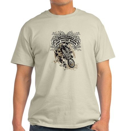 Eat, Sleep, Ride Motocross Light T-Shirt
