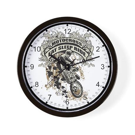 Eat, Sleep, Ride Motocross Wall Clock