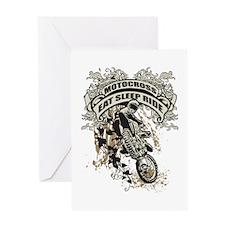 Eat, Sleep, Ride Motocross Greeting Card