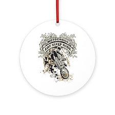 Eat, Sleep, Ride Motocross Ornament (Round)