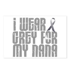 I Wear Grey For My Nana 16 Postcards (Package of 8