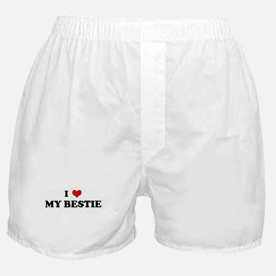 I Love MY BESTIE Boxer Shorts