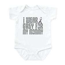 I Wear Grey For My Mommy 16 Infant Bodysuit