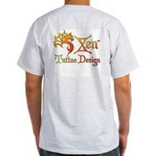 Pentacle Swirl Ash Grey T-Shirt
