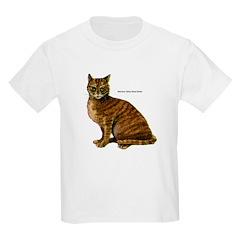 Mackerel Tabby Cat Kids T-Shirt