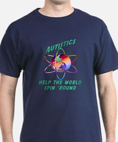 Autistics Spin the World T-Shirt
