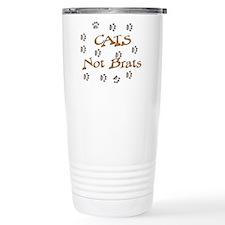 Cats Not Brats Travel Coffee Mug
