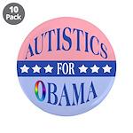 "Autistics for Obama 3.5"" Button (10 pack)"