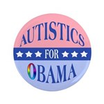 "Autistics for Obama 3.5"" Button (100 pack)"