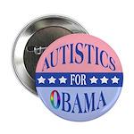 "Autistics for Obama 2.25"" Button (100 pack)"