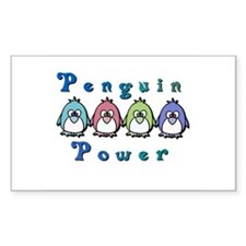 Penguin Power Rectangle Decal