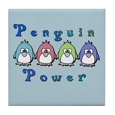 Penguin Power Tile Coaster