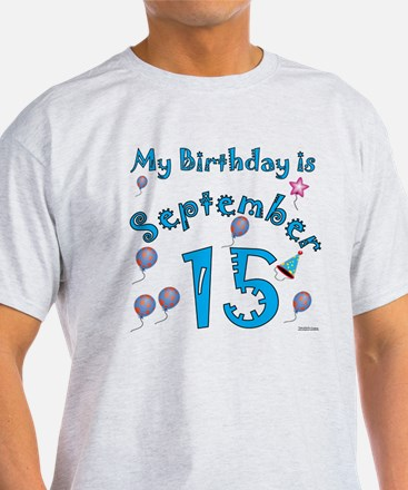 September 15th Birthday T-Shirt