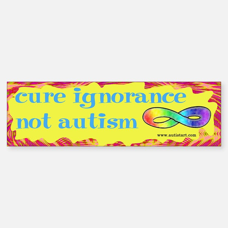 Cure Ignorance Bumper Bumper Bumper Sticker