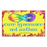 Cure Ignorance Rectangle Sticker