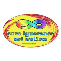 Cure Ignorance Oval Decal