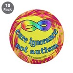 """Cure Ignorance 3.5"""" Button (10 pack)"""