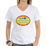 Cure Ignorance Women's V-Neck T-Shirt