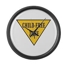 Child-Free Zone Large Wall Clock
