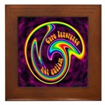 Cure Ignorance (Rainbow) Framed Tile