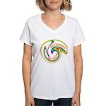Cure Ignorance (Rainbow) Women's V-Neck T-Shirt