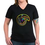 Cure Ignorance (Rainbow) Women's V-Neck Dark T-Shi