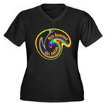 Cure Ignorance (Rainbow) Women's Plus Size V-Neck