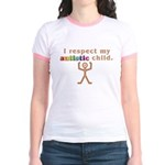 I Respect My Autistic Child Jr. Ringer T-Shirt