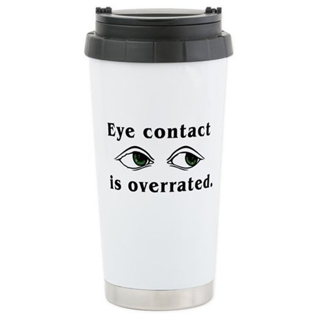 Eye Contact Stainless Steel Travel Mug