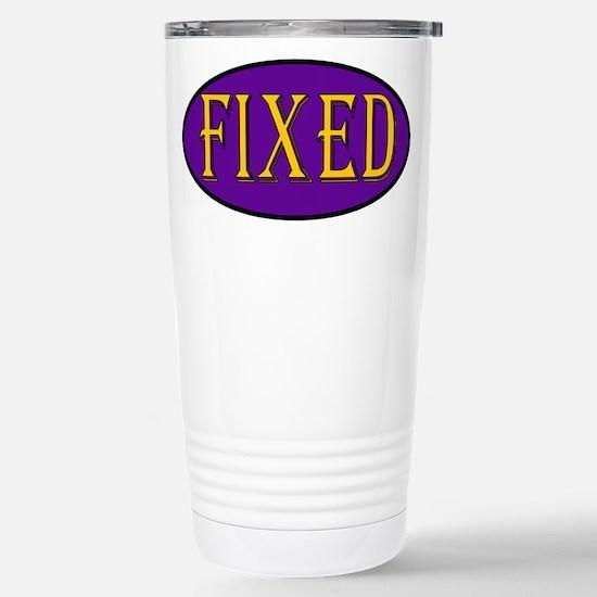 Fixed Stainless Steel Travel Mug