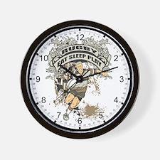 Eat, Sleep, Play Rugby Wall Clock