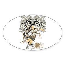 Eat, Sleep, Play Rugby Oval Sticker (10 pk)