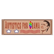 Autistics for Obama Bumper Bumper Sticker