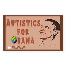 Autistics for Obama Rectangle Decal